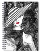 Woman With A Hat Spiral Notebook