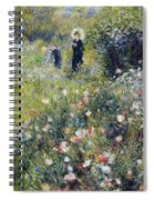 Woman With A Parasol In A Garden, 1875 Spiral Notebook