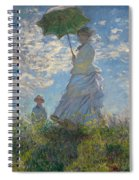 Woman With A Parasol Madame Monet And Her Son  Spiral Notebook