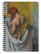 Woman With A Towel Spiral Notebook
