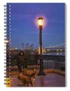 Woman With Her Dogs Spiral Notebook