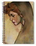 Woman With Hood Spiral Notebook