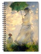 Woman With Parasol Dedication Spiral Notebook