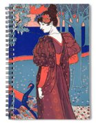 Woman With Peacocks Spiral Notebook