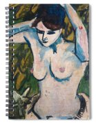 Woman With Raised Arms Spiral Notebook