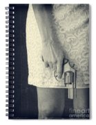 Woman With Revolver 60 X 45 Custom Spiral Notebook
