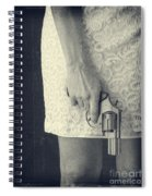 Woman With Revolver Spiral Notebook