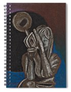 Woman With Trumpet Spiral Notebook