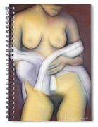 Woman With Veil Spiral Notebook
