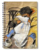 Woman With White Towel - Helene #9 - Figure Series Spiral Notebook