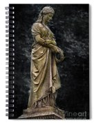 Woman With Wreath Spiral Notebook