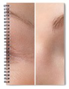 Womans Eye With And Without Wrinkles Spiral Notebook