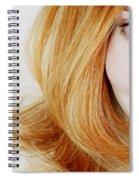 Womans Face Spiral Notebook
