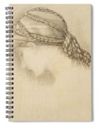 Womans Head, Detail From A Sketchbook Spiral Notebook