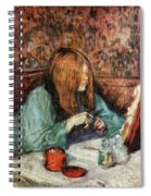Women At The Toilet Spiral Notebook