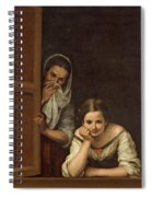 Women From Galicia At The Window Spiral Notebook