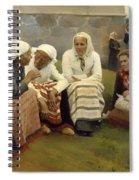 Women Outside The Church - Finland Spiral Notebook