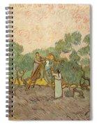 Women Picking Olives Spiral Notebook