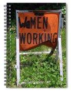 Women Working Spiral Notebook