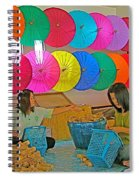 Women Working Together At Borsang Umbrella And Paper Factory In Chiang Mai-thailand Spiral Notebook