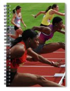 Womens Hurdles 3 Spiral Notebook