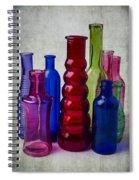 Wonderful Glass Bottles Spiral Notebook