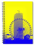 Wonderwheel In Blue And Yellow Spiral Notebook