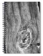 Wood Black And White Spiral Notebook