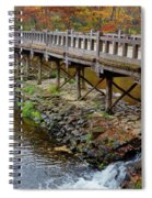 Wood Bridge And Autumn Color Spiral Notebook