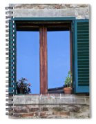 Wood Brown Window With Green Shutters Of Tuscany Spiral Notebook