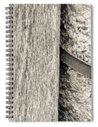 Wood Concrete And Steel Spiral Notebook