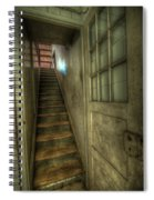 Wood Door And Stairs Spiral Notebook