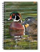 Wood Duck Pair Spiral Notebook
