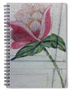 Wood Flower Spiral Notebook