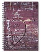 Wood Graffiti Spiral Notebook