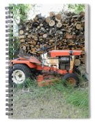 Wood Pile And Lawn Tractor Spiral Notebook