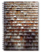 Wood Roof Shingles Spiral Notebook