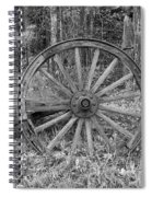 Wood Spoke Wheel Spiral Notebook