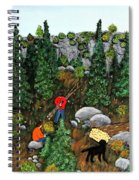 Woodcutters And Black Lab Spiral Notebook