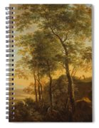 Wooded Hillside With A Vista Spiral Notebook