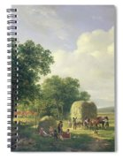 Wooded Landscape With Haymakers Spiral Notebook