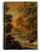 Wooded Landscape With Herdsman And Cattle Spiral Notebook
