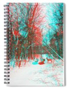 Wooded Path - Use Red And Cyan Filtered 3d Glasses Spiral Notebook