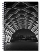 Wooden Archway With Chicago Skyline In Black And White Spiral Notebook