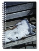 Wooden Bench With Snow 1 Spiral Notebook