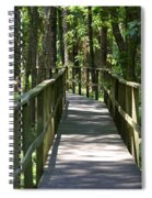 Wooden Boardwalk Through The Forest Spiral Notebook