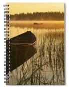 Wooden Boat Spiral Notebook