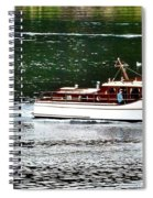 Wooden Boat With Skiff Spiral Notebook