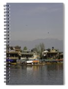 Wooden Boats Shikaras And Houseboats In The Dal Lake In Srinagar Spiral Notebook
