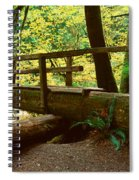 Wooden Bridge In The Hoh Rainforest Spiral Notebook
